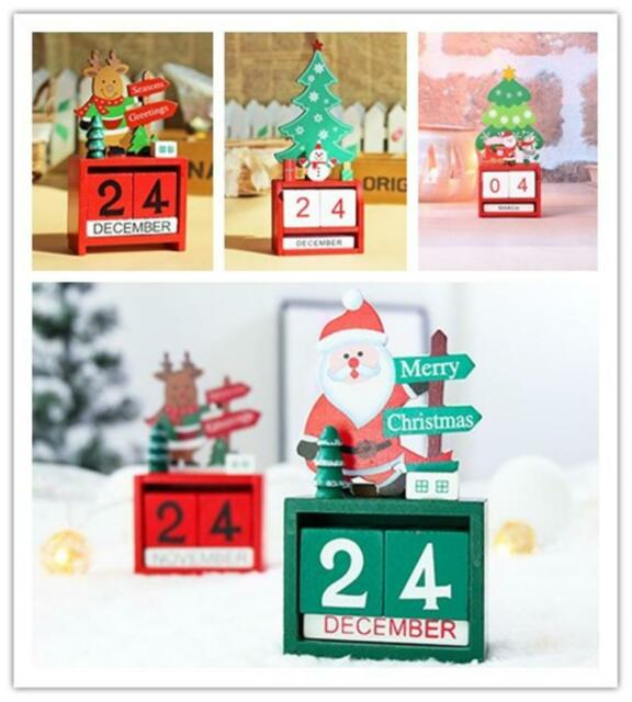 Wooden Christmas Tree Calendar Countdown Advent Xmas Number DIY Gifts Box Decor