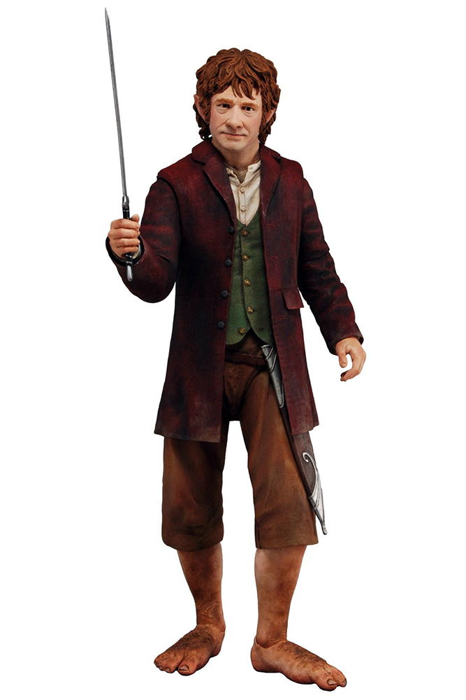 Neca The Hobbit Wirkung Figure 1 4 Bilbo Baggins 30 cm Lo Hobbit