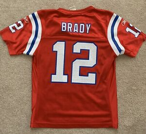 Details about Tom Brady New England Patriots Jersey Red Throwback Team Apparel Youth Medium M