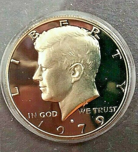 1979 P D S Kennedy Half Dollar In Mint Cello and TYPE 1 PROOF FLAT RATE SHIPPING