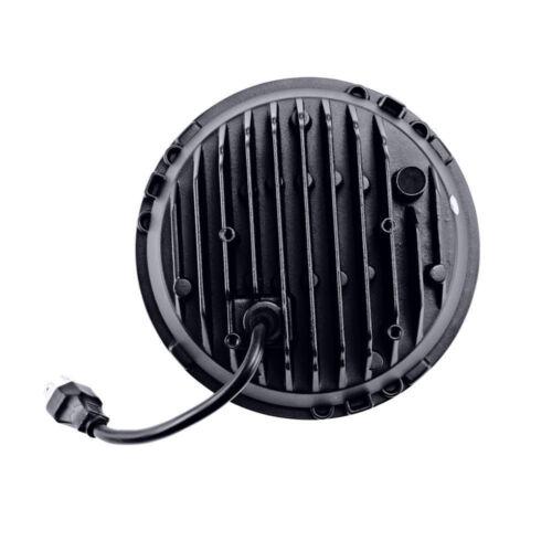 "2X 7/""inch Round LED Headlight 45W High Low Beam Off-Road Jeep Wrangler JK LJ TJ"