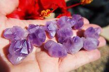 5 CUTE Tibetan Elestial Amethyst Crystal Clusters Reiki [USA] 250cts WOW!!!