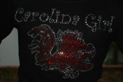 South Carolina Gamecocks Carolina Girl  children/'s rhinestone Bling Tshirt