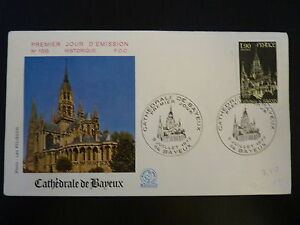 France Premier Jour Fdc Yvert 1939 Cathedrale De Bayeux 1,90f Bayeux 1977