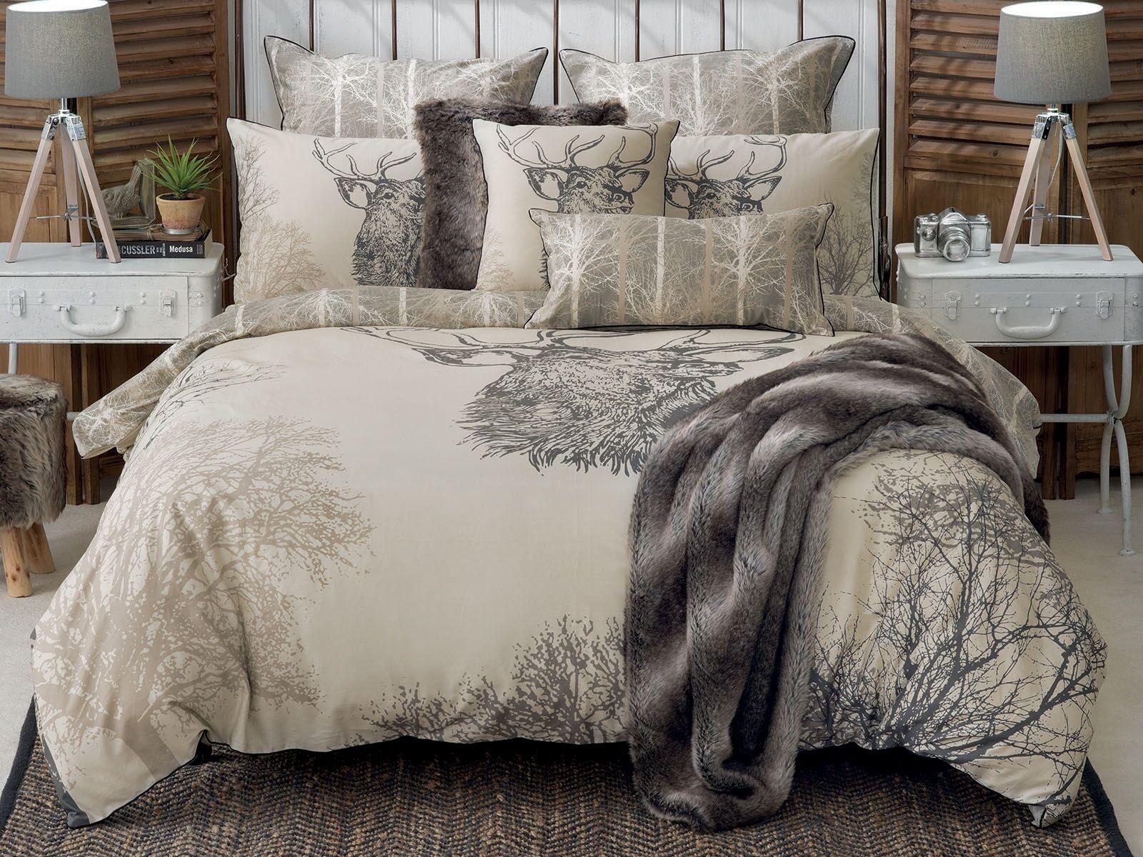 Bianca Sambar Deer Doona Duvet Quilt Cover Set King  Queen  Double Bed Dimensione