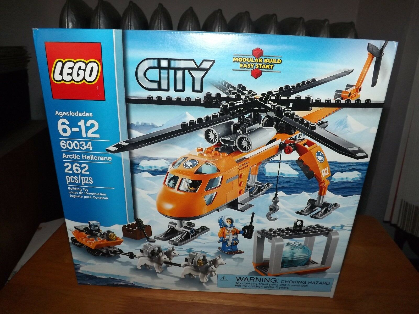 LEGO, CITY, ARCTIC HELICRANE, KIT  60034, 262 PCS, NIB, 2014