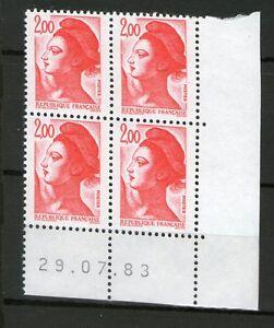 TIMBRE-N-2274-NEUF-XX-LUXE-COIN-DATE-DU-29-07-83-LIBERTE-DE-GANDON-2