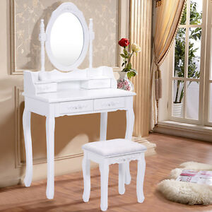Image Is Loading Shabby Chic Dressing Desk Table Mirror Vanity Make