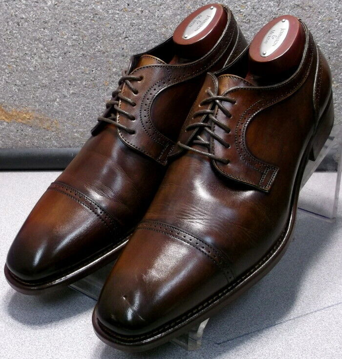 242603X PFi60 Men's Shoes Size 8.5 M Brown Leather Made in Italy Johnston Murphy