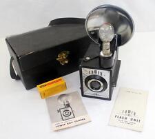 Vintage Tower Box Camera w/ Flash, Case, Film, Bulb & Original Paperwork
