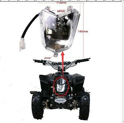 HIG New Head Light For 50cc 70cc 90cc 110cc 125cc 150cc ATV Quad Roketa Coolster