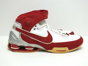 eed016103f22b4 2007 Nike Shox Elite II TB Men s Basketball Shoes Maroon White Size ...