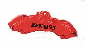 RENAULT.  HI - TEMP, QUALITY, CAST VINYL BRAKE CALIPER DECALS STICKERS