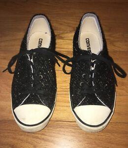c911097da8b9 Converse All Star Low Top Women s Sneakers - Black Wool w  Gold ...