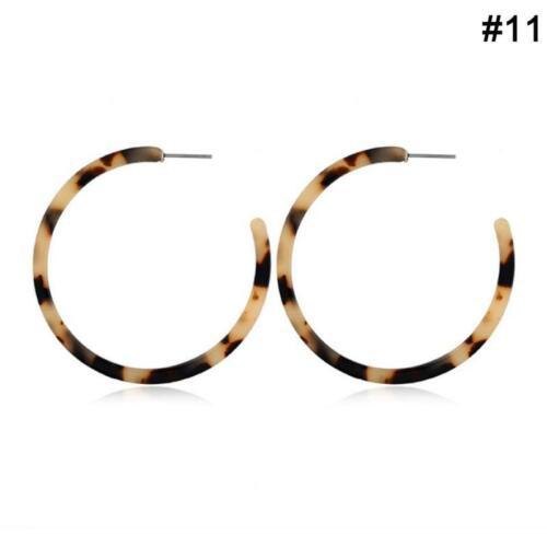 Resin Hoops Earrings Tortoise Shell C-shaped Acrylic Leopard Boutique Favor