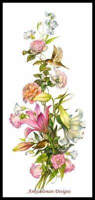 Drobisch Cottage Rose Garden 1896~Seed Art~DIY Counted Cross Stitch Pattern