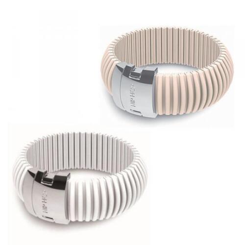 Bracciale HIP HOP ICON Silicone Colorato Bianco Rosa Regolabile Thin 20mm