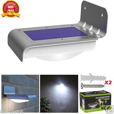 4/16 LED Solarbetrieben Bewegungsmelder Garten Sicherheit Lampe Außen Wasserfest