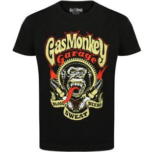 Official-Gas-Monkey-Garage-Essentials-Mens-Spark-Plugs-T-Shirt-Hot-Rod-GMG