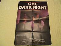 """1982 One Dark Night horror Meg Tilly original! 27""""x41"""" 1 sheet movie poster GVG"""