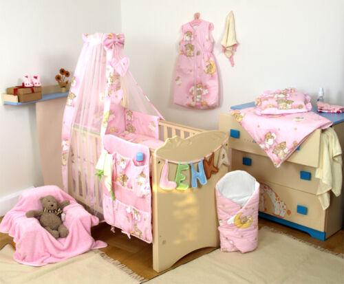 parachoques de almohada 3,4,5,7PCS más Juego de cama cuna niño abrazada Teddy /& cuna edredón