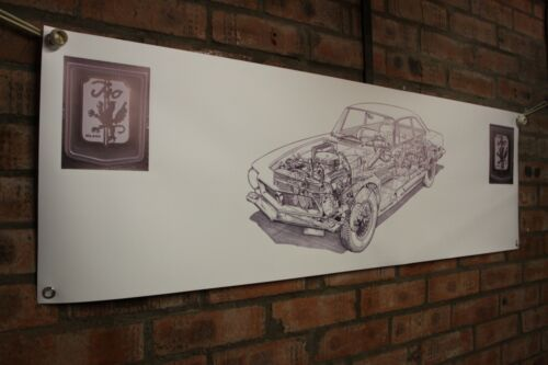 ISO RIVOLTA GT COUPE Cut Away PVC Heavy Duty lavoro Negozio Banner Garage