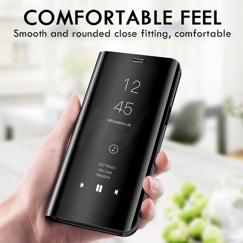 Details about Mirror Flip Phone Case Smart Stand Cover for Samsung Galaxy  S7 S8 S9 Plus Note 8
