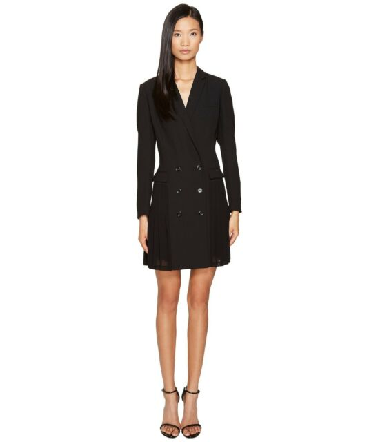 fbe29719f4bb The Kooples Womens Pleated Blazer Dress Black 38/us 4 Regular for ...