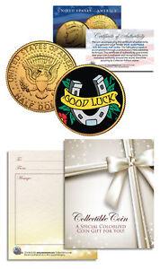 GOOD-LUCK-HORSESHOE-Kennedy-JFK-Half-Dollar-U-S-24K-Gold-Plated-LUCKY-COIN