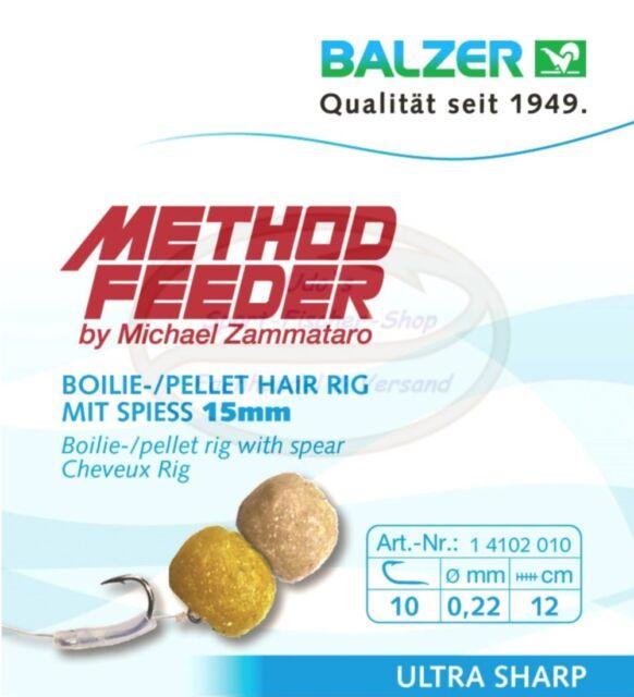 Balzer Zammataro Feedermaster Method Feeder Haken -  Hair Rig m Speer 15mm