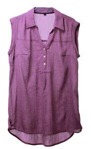 EVANS-Womens-Ladies-Purple-Knit-Smart-Casual-Work-Shirt-Top-Plus-Sizes