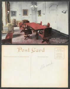 Old-Minnesota-Postcard-St-Paul-State-Capitol-Supreme-Court-White-Room