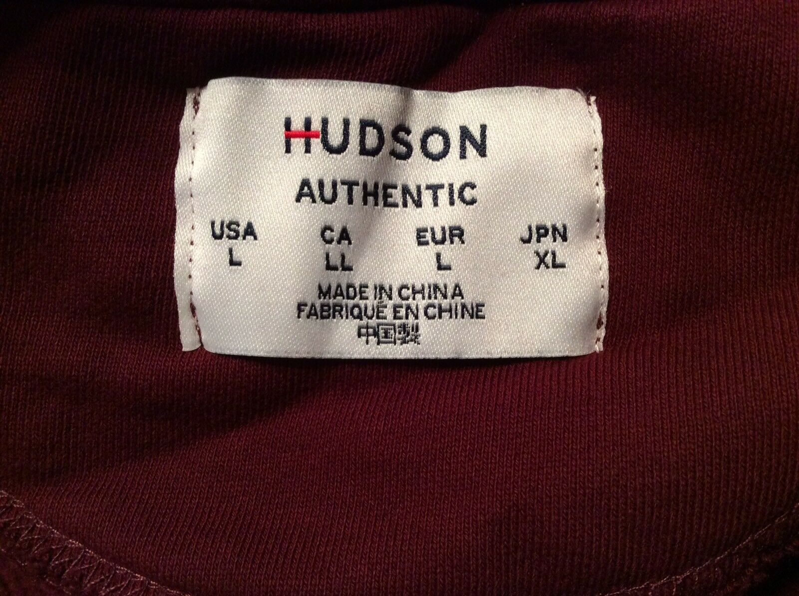 HUDSON JEANS WOMEN'S LARGE LARGE LARGE GARNET RED ZIPPERED OVERSIZED CROPPED HOODIE - NWT 9aaf6e
