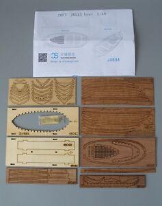 Full Rib Scale 1:35 Model Ship Long Boat Wooden Model Ship Kit Free Post