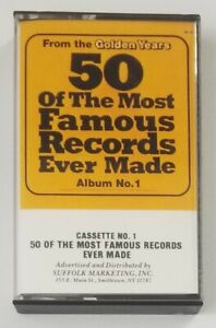 50 of the Most Famous Records Ever Made Album No 1 Cassette Tape