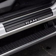 Door Sill Plate Protectors Black Matte fits Dodge Ram Truck 1500 2015 2016 2017