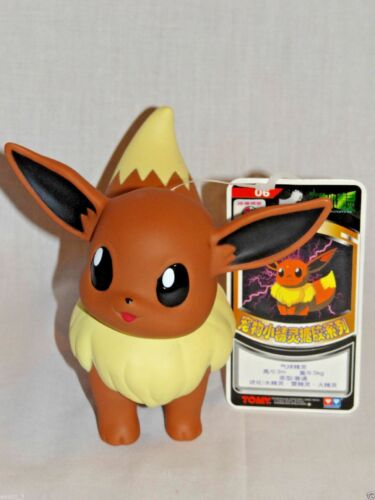"NEW WTH TAG POKEMON EEVEE 4/"" PLASTIC FIGURE  TOMY"