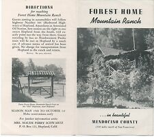 1930s Advertising Brochure for Forest Home Mountain Ranch Mendocino CA