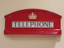 RED TELEPHONE BOX CAST OF TOP FRONT OF K6 , BOOTH, KIOSK, CROWN, FULL SIZE @3ftW