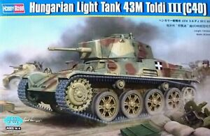 Hobbyboss-1-35-43M-Toldi-III-C40-Hungarian-Light-Tank-Model-Kit
