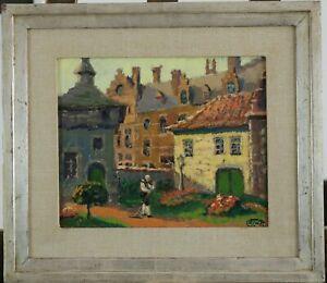 Lucien-Frennet-1888-Vieux-Bruxelles-Jardin-1935-Cote-jusque-3-000-euros