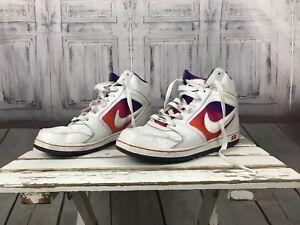 Nike-Air-womens-White-Orange-Pink-Purple-Shoes-Hightops-Sneaker-sz-9-5