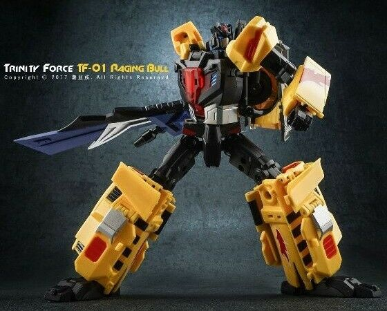 Transformation TFC giocattolo TF01 Raging Bull strada Caesar Laster in Stock Robot