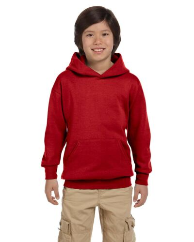 EcoSmart 50//50 Pullover Two Ply hood P473 XS-XL Hoody Hanes Youth 7.8 oz