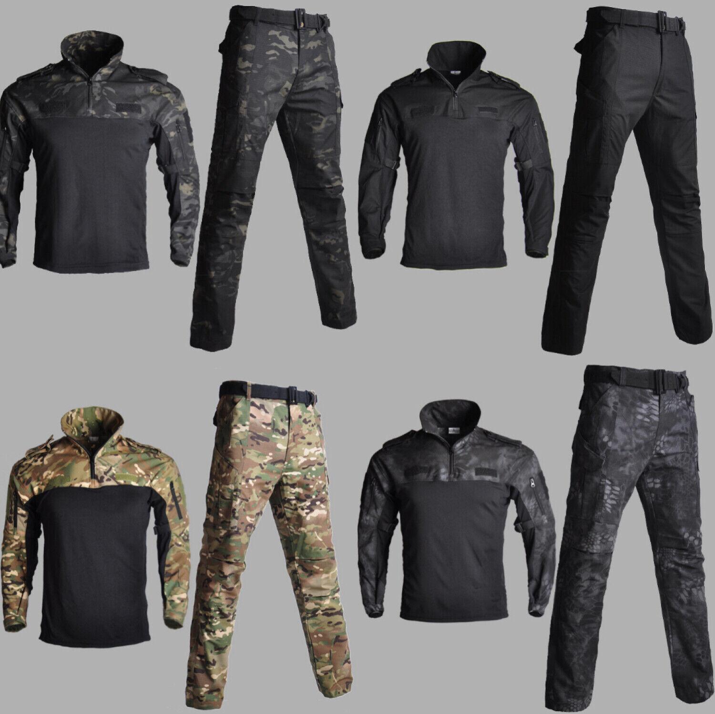 Military Tactical Training Men's Suit  Combat Shirt + Pants Suit Airsoft Uniform  fast delivery
