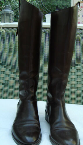 5 Brown 37 Auth Leather Sartore Knee Size Boots 0qzCxfFz