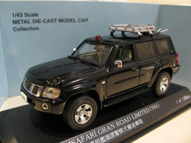 1 43 Nissan Patrol   Nissan Safari Gran Road Limited (Y61) Police Car diecast