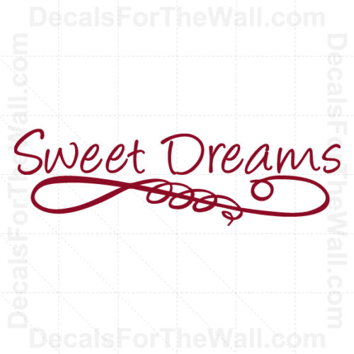 Sweet Dreams Wall Decal Vinyl Art Sticker Quote Decor Inspirational Saying K19