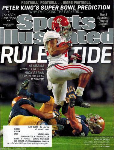 2013 Eddie Lacy Alabama Crimson Tide Sports Illustrated January 14
