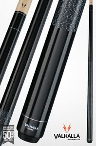 Valhalla-by-Viking-2-Pc-Pool-Cue-with-case-Black-w-wrap-Lifetime-Warranty